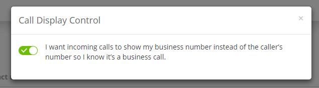 call display control